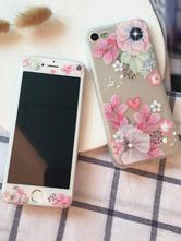 332582681bc Caja de teléfono floral Rhinestone Print TPU Skid Resistant Phone Bumper  protector para IPhone X IPhone 8 · -40%