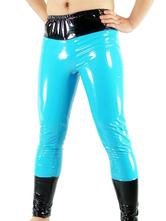 Pantaloni blu Catsuit in PVC Carnevale