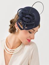 Costume Carnevale Cappello flapper lana ritorto cappello copricapo con cinturini da donna