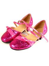 Zapatos de bailes latinos de tela con lentejuelas brillantes y lazo fVVhcxmwwh