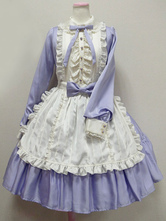 Robe Sweet Lolita OP Ocean Blue Collier décolleté à manches longues Lolita One Piece Dress�