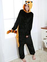 Kigurumi Pajamas Red Panda Racoon Onesie Brown Flannel Animal Winter Sleepwear For Adult Unisex Back With Zipper Costume Halloween