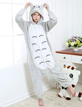 Halloween Kostüm Erwachsene tierkostüme Pyjamas Tarnung Flanell mit Thema von Tier in anderen Stylen Unisex und Grau Flanell Overall Faschingskostüme