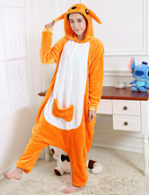 Kigurumi Pajamas Kangaroo Onesie Orange Flannel Animal Winter Sleepwear For Adult Unisex Back With Zipper Costume Carnival onesie pajamas