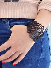 Bracelet fabuleux en faux cuir casual avec relief