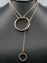 Collar con cuellos de oro de la aleación de las mujeres del collar del ahogador