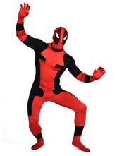 Halloween Deadpool Costume Cosplay Lycra Spandex Zentai Suit Super Man Full Bodysuit  Halloween