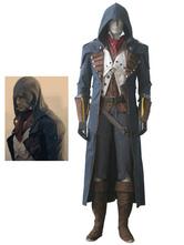 Inspirado pela Unidade de Credo do Assassino Arno Victor Dorian Traje de Cosplay de Halloween Traje da Marinha Negra Halloween