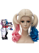 Suicide Squad Harley Quinn Cosplay Wig Red Blue Bunches Cosplay Wig Carnival