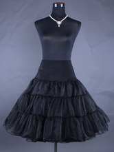 Lolita Jupon doux noir 2020 taille haute Lolita Petite Jupe