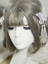 Sweet Lolita Hairpins Organza Butterfly Tassels Lolita Hair Accessories