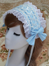 Sweet Lolita Hairband Chiffon Lace Up Ruffles Lolita Hair Accessories