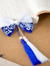 Chinese Style Lolita Bows Satin Porcelain Themed Tassels Lolita Hair Accessories