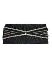 Wedding Clutch Bags Purse Black Beading Bridal Bags Chain Evening Handbags