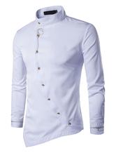 promotion taille 40 dernier chemises pour homme de style Coréen 2019, chemises homme ...