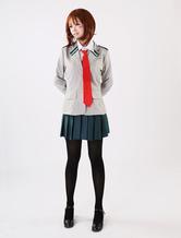 Boku No Herói Academia BNHA 2020 Uraraka Ochako Cosplay Uniforme Escolar Halloween