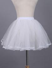Lolitashow Weißen Lolita Petticoat Lace aus Polyester Petticoat
