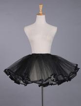 Lolitashow Lolita noir dentelle jupon jupon Polyester