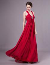 Prom-Kleid aus Chiffon in Burgunderrot