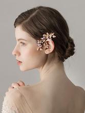 Peigne coiffures de mariage or perles accessoires de cheveux de mariée