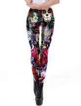 Leggings Scary Halloween 3D Printed Donna Sport Pantaloni sportivi