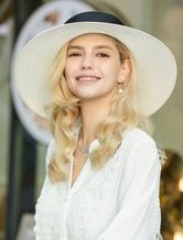 Sun Hat Vintage Королевские Белые Широкие Поля Головные Уборы Ретро Аксессуары Для Волос Хэллоуин