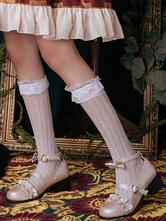 Sweet Lolita Socks Lace Ruffle White Lolita Stocking