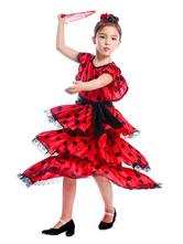 Carnevale Abiti da ballo flamenco Costume da ballo tradizionale spagnolo per corrida e corrida Costume Halloween