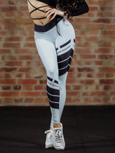 As letras das caneleiras do Gym das mulheres imprimem Leggings Skinny do tom dois