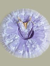 Faschingskostüm Ballett Tanz Kostüm Kinder Lila Perlen Applique Ballerina Tutu Kleider Für Kleine Mädchen Karneval Kostüm