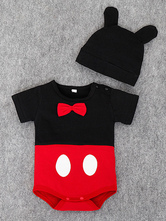 Mickey Mouse Cosplay Costume Bows Infant Cartoon Newborn Baby Clothes With Hat Halloween