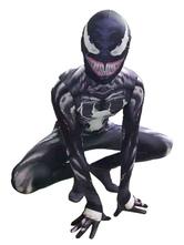 Halloween Marvel Venom Costume Full Body Lycra Spandex Superhero Costumes