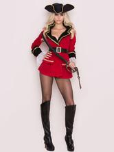 Сексуальный костюм пирата хэллоуин красный женский наряд