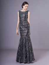 Black Evening Dresses Sequin Glitter Mermaid Prom Dress Maxi Formal Gowns