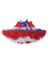 Sweet Lolita SK Color Block Tulle Bow Ruffle Children Lolita Tutu Skirt