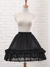 Chiffon Lolita Petticoats Lace Ruffles Fishbone Crinoline Lolita Underskirt