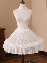 Chiffon Lolita Petticoats Lac Ruffles White Lolita Underskirt