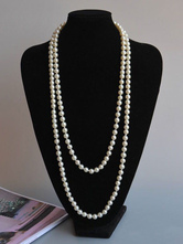 Retro Layered Necklace 1920s Fashion Great Gatsby Flapper Pearl Neklace Halloween