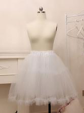 Enagua de Lolita blanca Tulle Lolita debajo de la falda de crinolina
