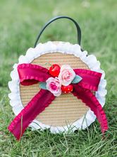 Sweet Lolita Handbag Bows Flowers Bow Ruffles Straw Bags Lolita Accessories