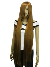 Coffee Brown Cosplay Wig Ayase Chihaya Chihayafuru Straight Japanese Anime Long Wigs Halloween