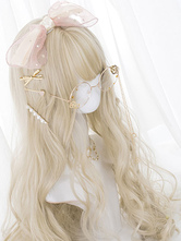 Sweet Lolita Wig Long Curly Lolita Hair Wigs With Blunt Bang