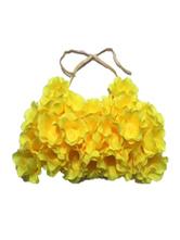 Gelb Strand Kostüme Blumen BH Frauen Badeanzug Halloween