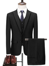 Groom Suit Handsome Polyester Formal Wedding Wear For Man