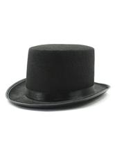 Chapéu de coco retro do aristocrata acessório preto do vintage para o homem Halloween