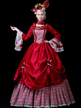 Faschingskostüm Karneval Kostüm Mittelalter Kleidung Rot und Spitzen und Rüschen Barock Kostüm Rokoko Kleid Renaissance Kleidung Viktorianische Königin Kostüm Karneval Kostüm
