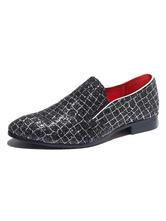 Chaussures habillées pour hommes Paillettes à bout pointu en similicuir Chaussure de bal