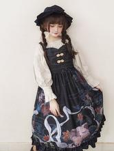 Classical Lolita JSK Dress Dunhuang Cat Wall Painting Print Lolita Jumper Skirts