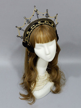 Gothic Lolita Headdress Crown Black Metal Chains Lolita Hair Accessories