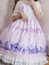 Sweet Lolita JSK Dress Dreamland Flower Sea Of Bunny Printed Lolita Jumper Skirts